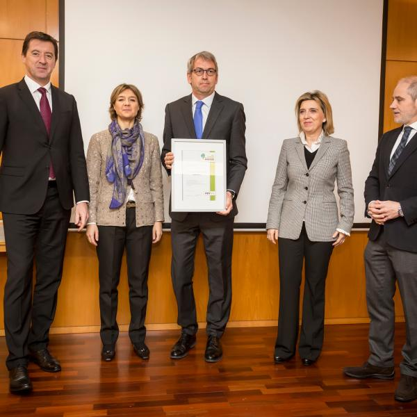 Entrega del diploma Wineries for Climate Protection